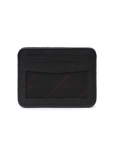 Deri Company Deri Company Monogram Desenli Logolu Basic Taba Mini Cüzdan Siyah